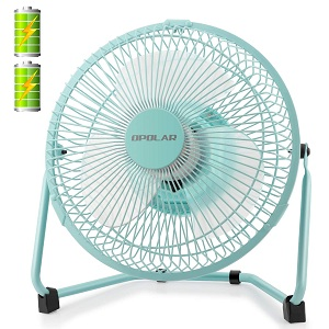 OPOLAR Battery Operated Recahrgeable Desk Fan