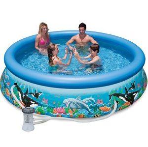 Intex 10ft X 30in Ocean Reef Easy Set Pool Set with Filter Pump