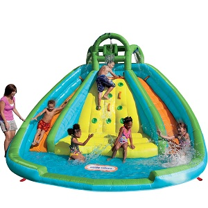 Little Tikes Rocky Mountain River Race Inflatable Slide Bouncer