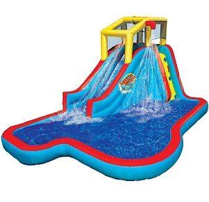 BANZAI Slide N Soak Splash Park Inflatable Outdoor Kids Water Park