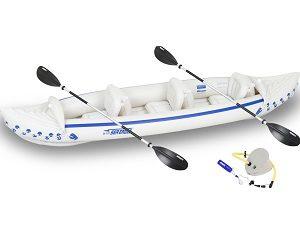Sea Eagle 370 Pro 3 Person Inflatable Portable Sport Kayak