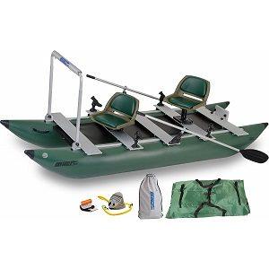 Sea Eagle Green 375fc Inflatable FoldCat Fishing Boat